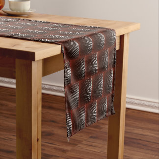 Claret Dotted Circle Short Table Runner