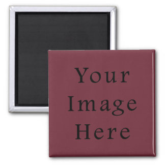 Claret Maroon Red Color Trend Blank Template Square Magnet