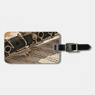 Clarinet Closeup Luggage Tag