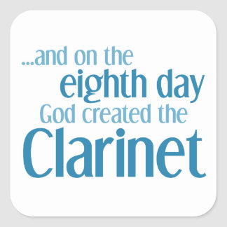 Clarinet Creation Square Sticker