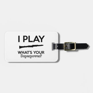clarinet designs luggage tag