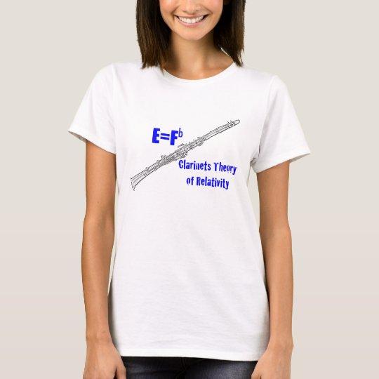 Clarinet E=Fb Clarinet Theory of Relativity Shirt