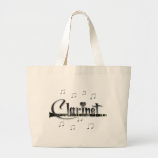 Clarinet I Love Clarinet Large Tote Bag