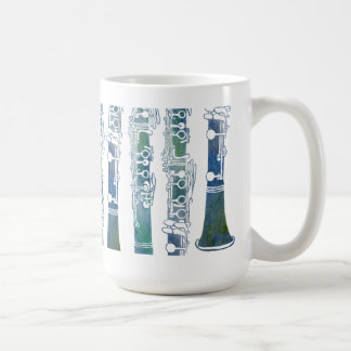 Clarinet Keys in Green Coffee Mug