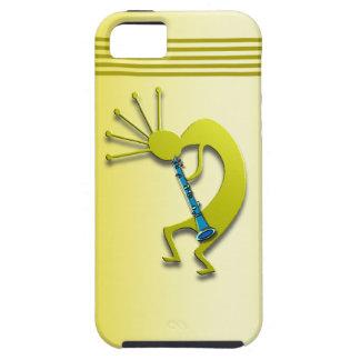 Clarinet Kokopelli in Gold iPhone 5 Cases