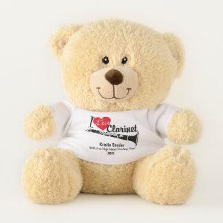 Clarinet Love Custom Marching Band Bear