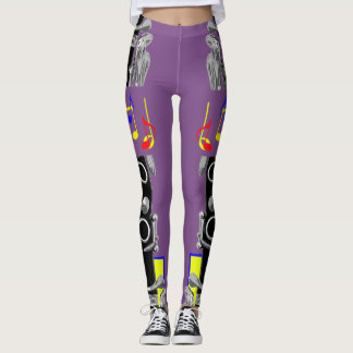 Clarinet Music Note Leggings