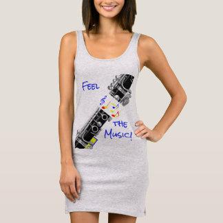 Clarinet Music Sleeveless Dress