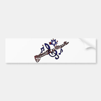 Clarinet Musical Tribal Art Bumper Sticker