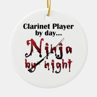 Clarinet Ninja Ceramic Ornament