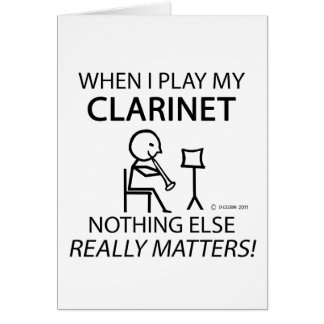 Clarinet Nothing Else Matters Cards