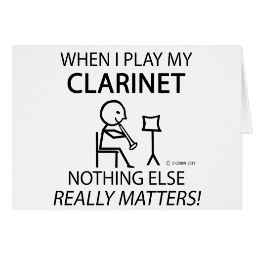 Clarinet Nothing Else Matters Card