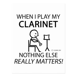 Clarinet Nothing Else Matters Post Cards