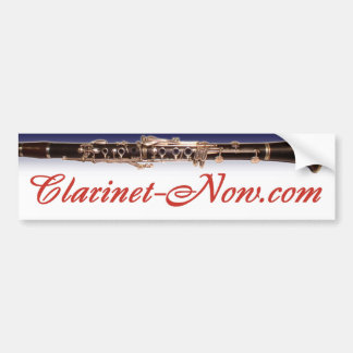 Clarinet-Now.com Bumper Sticker