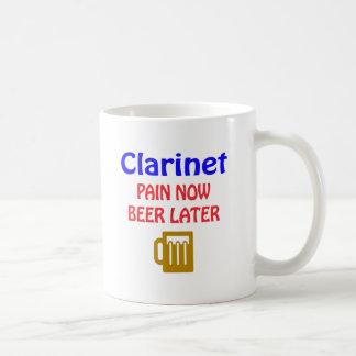 clarinet Pain now beer later Coffee Mug
