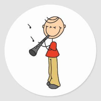 Clarinet Player Stickers Sticker