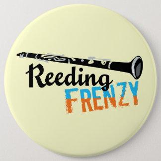 Clarinet Reeding Frenzy 6 Inch Round Button