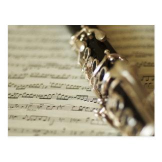 Clarinet & Sheet Music Postcard
