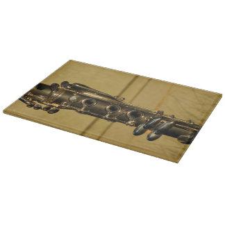 Clarinet Sunset glass cutting board