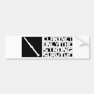 Clarinet Survive Bumper Sticker