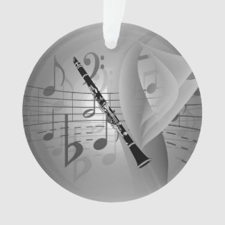 Clarinet with Musical Accents (Both Sides) Ornament