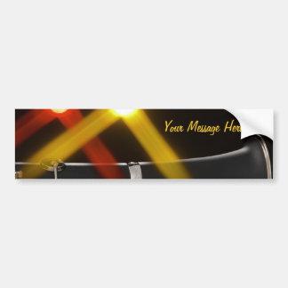 Clarinet with red and yellow stage lights bumper sticker