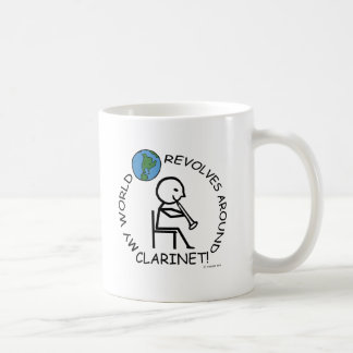 Clarinet- World Revolves Around Coffee Mug