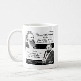 Clarinetist Mühlfeld inspired Brahms Coffee Mug