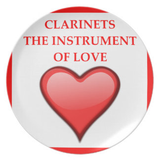 CLARINETS DINNER PLATE