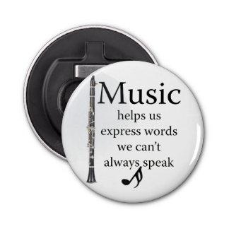 Clarinets Music Helps Us Express Words Kitchen Bottle Opener