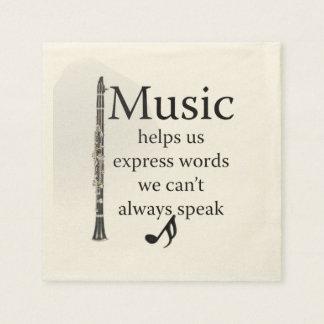 Clarinets Music Helps Us Express Words Kitchen Paper Napkin