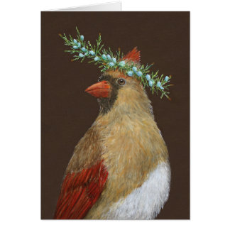 Clarissa the cardinal greeting card