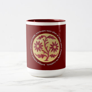 Clarita's Antique Buttons Two-Tone Coffee Mug
