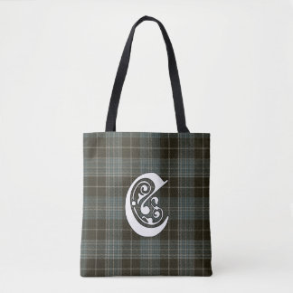 Clark Clan Tartan Monogram Tote Bag