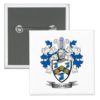 Clark Coat of Arms 2 Inch Square Button