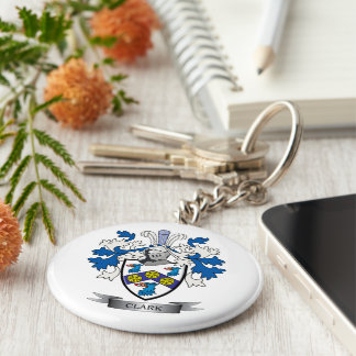 Clark Coat of Arms Basic Round Button Keychain