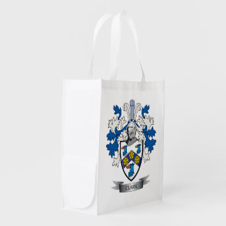 Clark Coat of Arms Grocery Bags