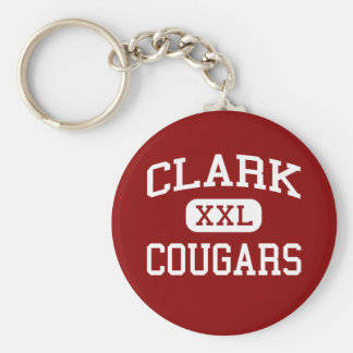Clark - Cougars - Clark High School - Plano Texas Keychain