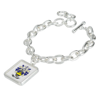 Clark Family Crest Coat of Arms Charm Bracelet