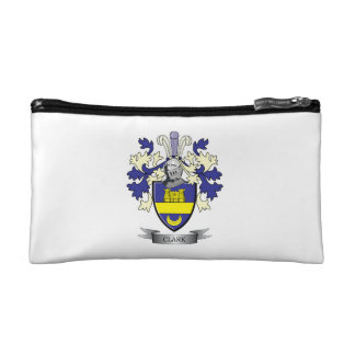 Clark Family Crest Coat of Arms Cosmetics Bags
