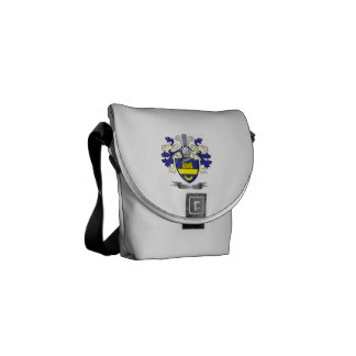 Clark Family Crest Coat of Arms Courier Bag