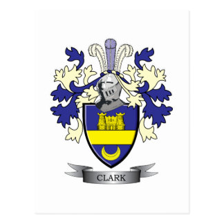 Clark Family Crest Coat of Arms Postcard