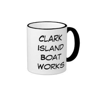 Clark Island Boat Works Ringer Coffee Mug