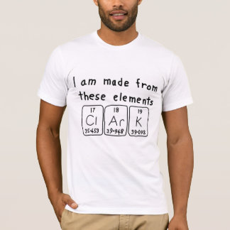 Clark periodic table name shirt