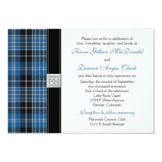 Clark Tartan Wedding Invitation Reception