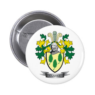 Clarke Coat of Arms 2 Inch Round Button
