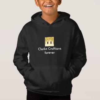 clarke craftg clarke craftians forever kids hoodie
