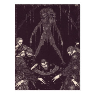 Clarke's Edgar Allan Poe Illustrations Postcard