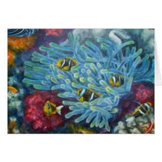 clarks clownfish with anemone card