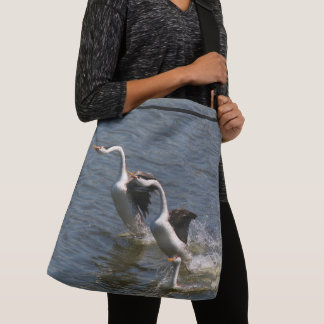 Clarks Grebe & Baby Birds Wildlife Tote Bag